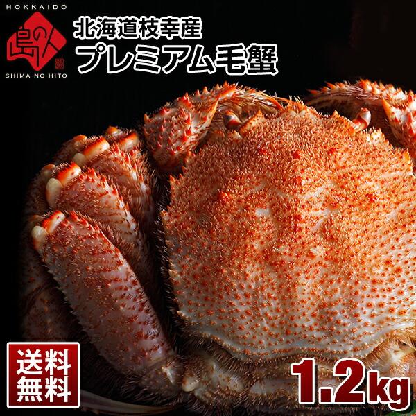 北海道 枝幸産 プレミアム毛蟹 1.2kg【送料無料】