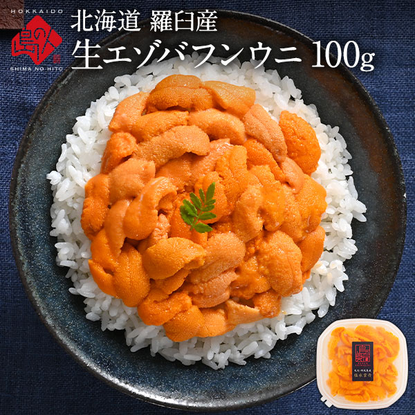 北海道 知床・羅臼産 生エゾバフンウニ 100g 色が赤い訳あり品