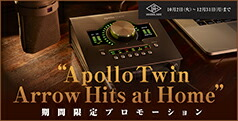 Universal Audio Apollo Twin Arrow Hits at Homeプロモ