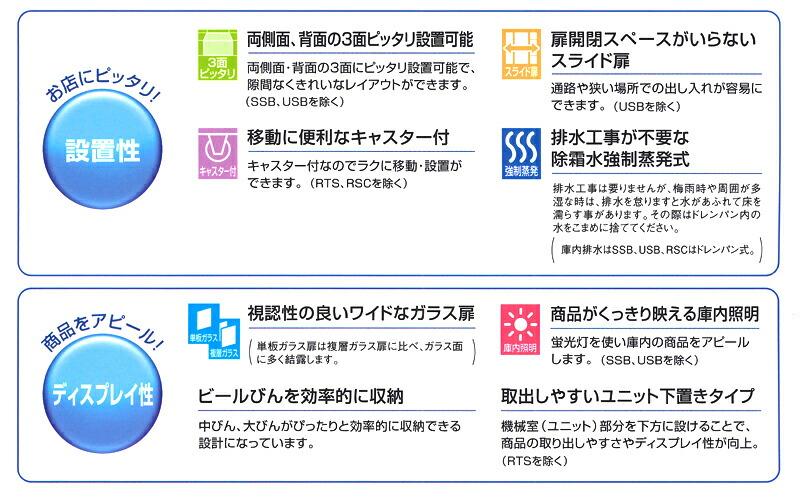 ホシザキ 小形 冷蔵ショーケース 詳細1