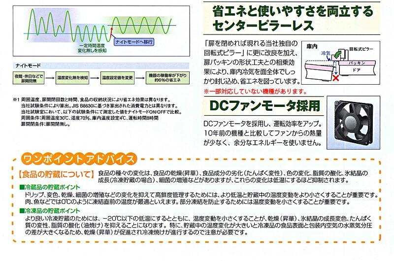 パナソニック(サンヨー)業務用冷凍冷蔵庫 Jシリーズ