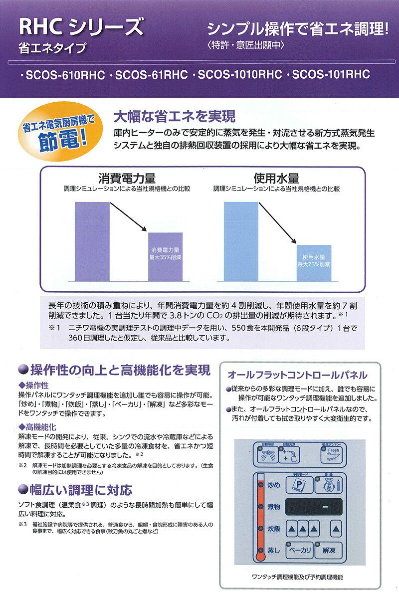 RHCシリーズ 省エネタイプ シンプル操作で省エネ調理!