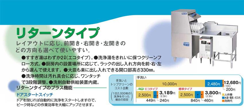 回転ノズル洗浄能力大皿960枚