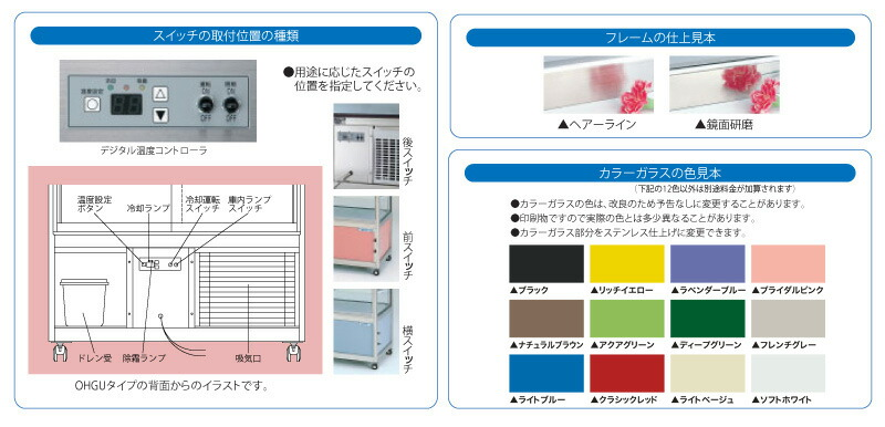 大穂製作所(OHO)  冷蔵ショーケース 詳細4