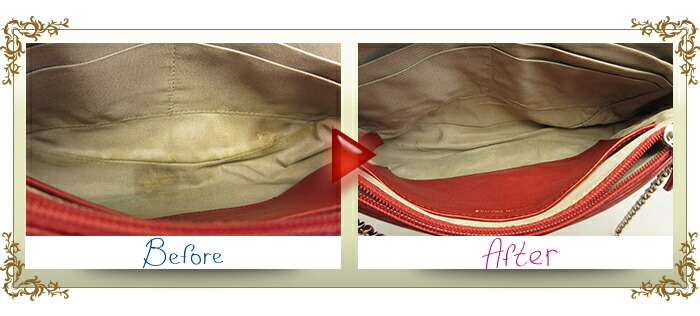 バッグ クリーニング【高級ブランド品コース】 Mサイズ(〜40cm) シャネルバッグビフォーアフター