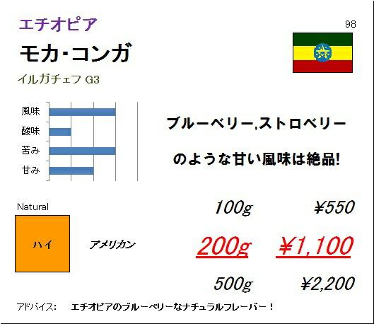 エチオピア モカ コンガ G3