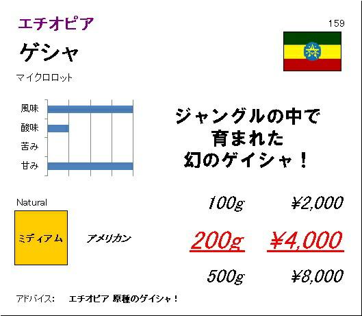 エチオピア ゲシャ・ビレッジ農園 ゲイシャ バンジ マイクロロット