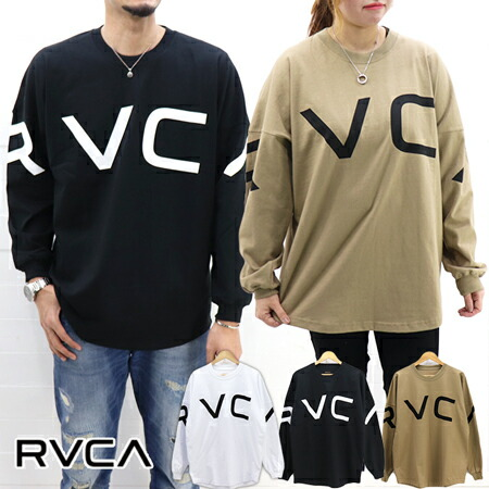RVCA MENS ARCH RVCA LONG SLEEVE BIG T-SHIRT AJ041-063 / ルーカ メンズ アーチロゴ BIG ロンT AJ041-063 レディース ユニセックス