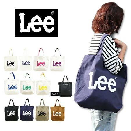 Lee LOGO BIG CANVAS TOTE BAG QPER60 / リー ロゴ BIG キャンバス トートバッグ ジーンズポケット 男女兼用