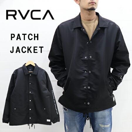 RVCA MENS PATCH JACKET AI042-757 / ルーカ メンズ ロゴ コーチ ジャケット AI042-757
