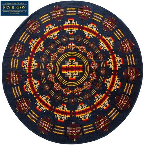 『Printed Round Towel』(Chief Jospeh Indigo)