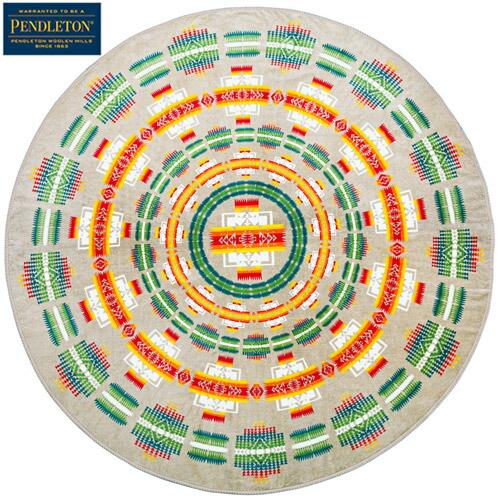 『Printed Round Towel』(Chief Jospeh Khaki)