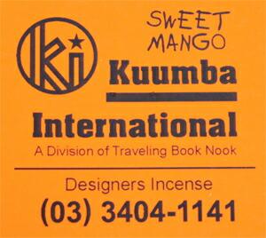 KUUMBA , クンバ, incense ,(SWEET MANGO )