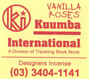 KUUMBA , クンバ, incense ,(VANILLA ROSES )