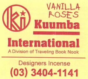 KUUMBA , クンバ, incense ,(VANILLA ROSES )