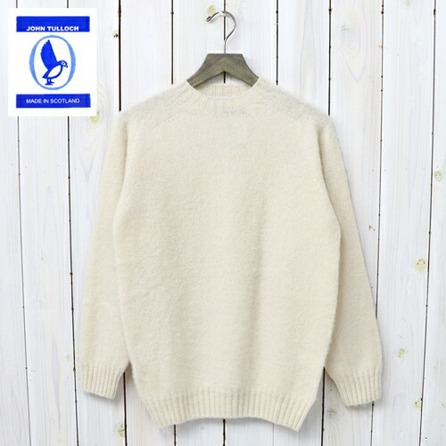 『SEAM FREE HEAVY BRUSH CREW NECK SADDLE SHOULDER P/O』(CREAM)