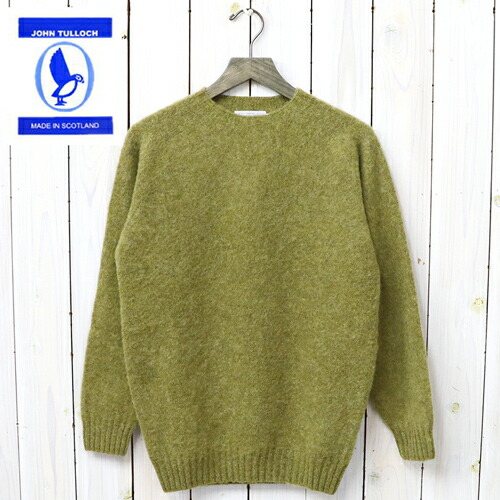 『SEAM FREE HEAVY BRUSH CREW NECK SADDLE SHOULDER P/O』(ASPARAGUS)