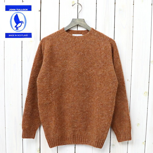 『SEAM FREE HEAVY BRUSH CREW NECK SADDLE SHOULDER P/O』(SIENNA)