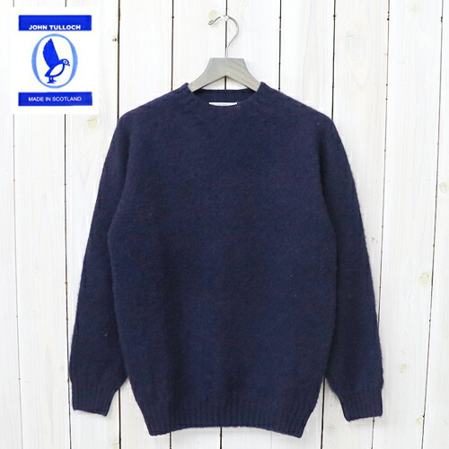 『SEAM FREE HEAVY BRUSH CREW NECK SADDLE SHOULDER P/O』(NEW NAVY)