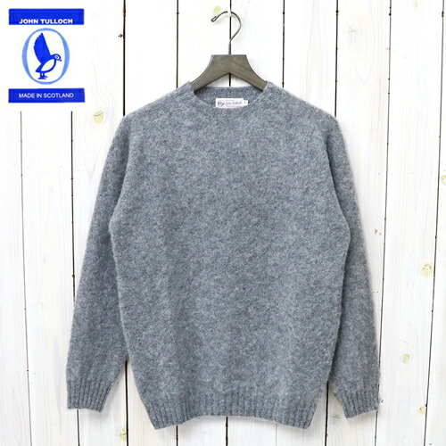『SEAM FREE HEAVY BRUSH CREW NECK SADDLE SHOULDER P/O』(MEDIUM GREY)