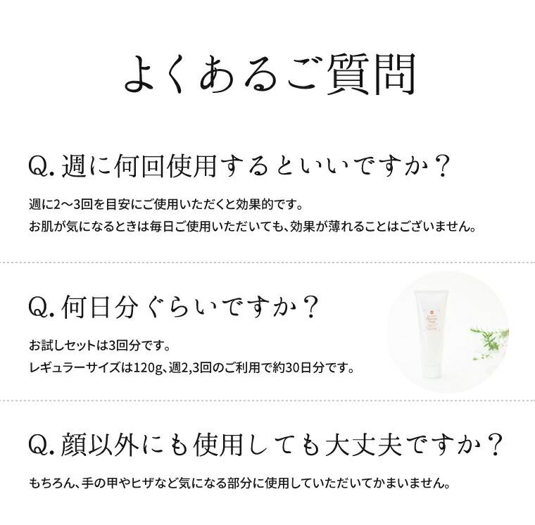 よくあるご質問 Q&A 使用量