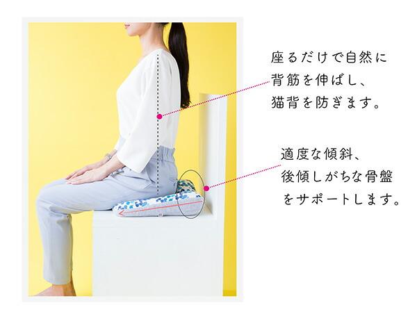 jimu fab ジムファブ 美姿勢サポートクッション 猫背を防ぎ 人工学構造