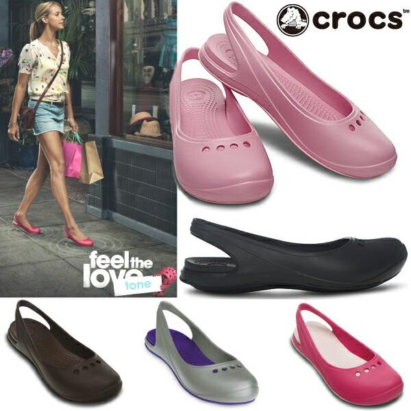 7a48dc65c067 Crocs Crocs tone crocs ladies Sandals back strap Skylar flat crocstone skylar  flat 11416 legs hip all colors black I Tickle her shortness ladies sandal-