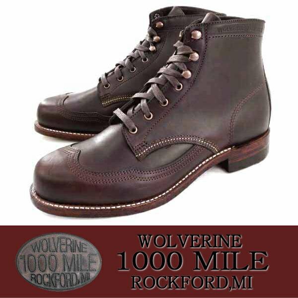 866d553193f □ WOLVERINE Wolverine 1000 MILE WINGTIP BOOT W05342 [Brown] work boots