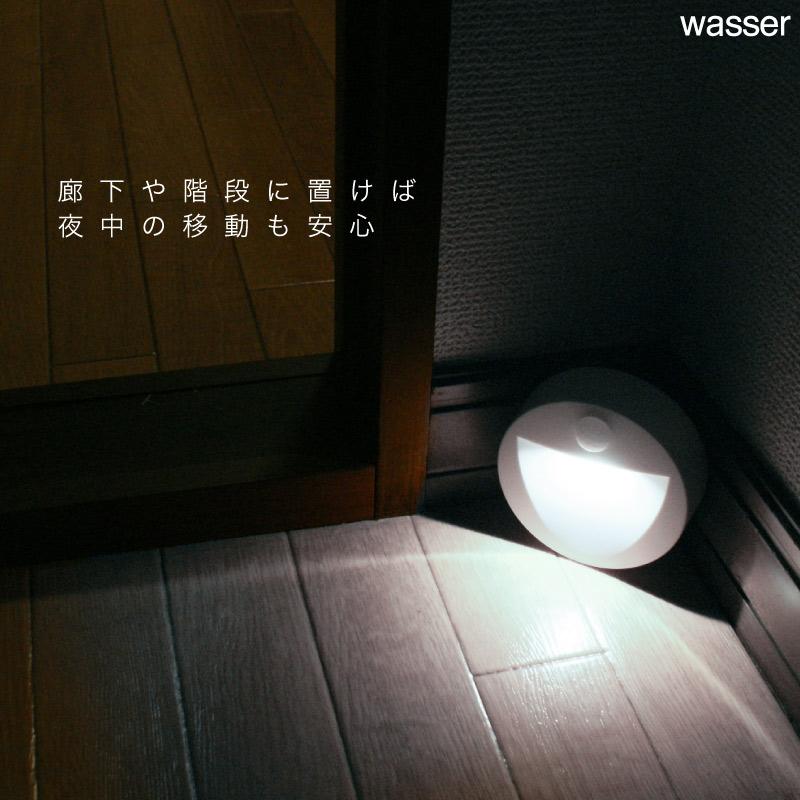 人感センサーライト LED 電池式 フットライト