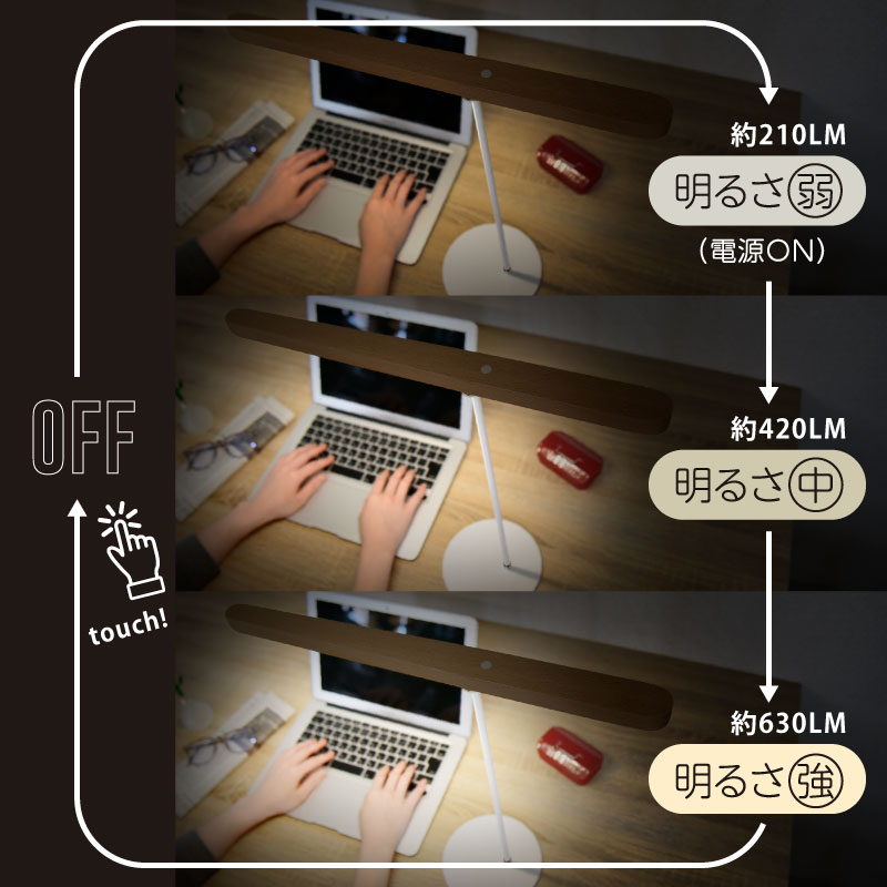 wasser LED卓上ライト&スティックライト 52