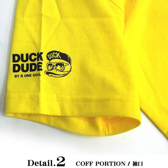 DUCK DUDE Tシャツ メンズ 半袖Tシャツ 袖