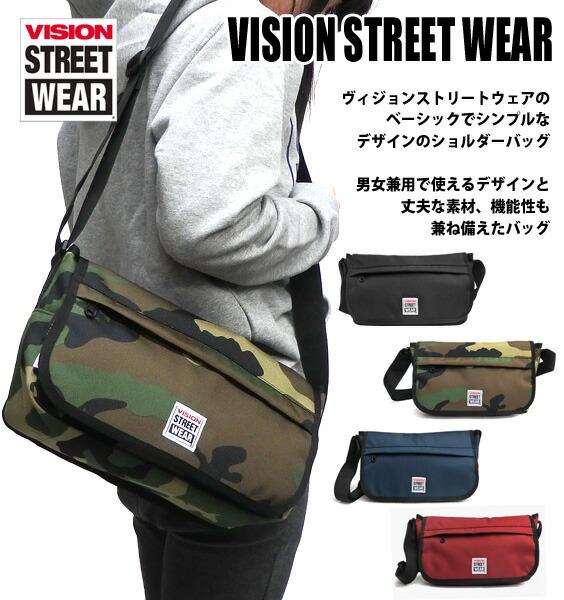 VISION ショルダーバッグ VISION STREET WEAR メッセンジャーバッグ