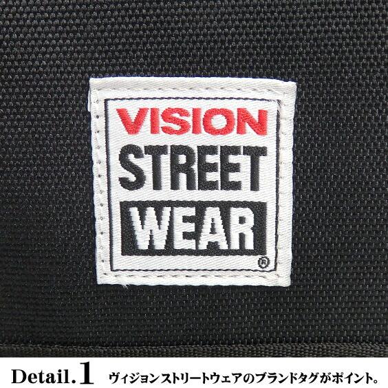 VISION ショルダーバッグ VISION STREET WEAR メッセンジャーバッグ タグ