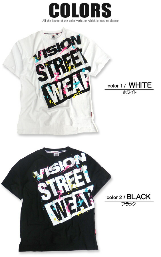 VISION Tシャツ ヴィジョン 半袖Tシャツ カラー