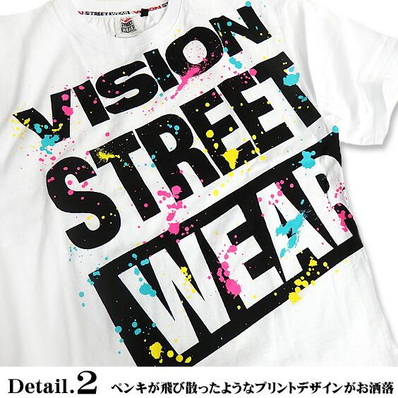 VISION Tシャツ ヴィジョン 半袖Tシャツ プリント