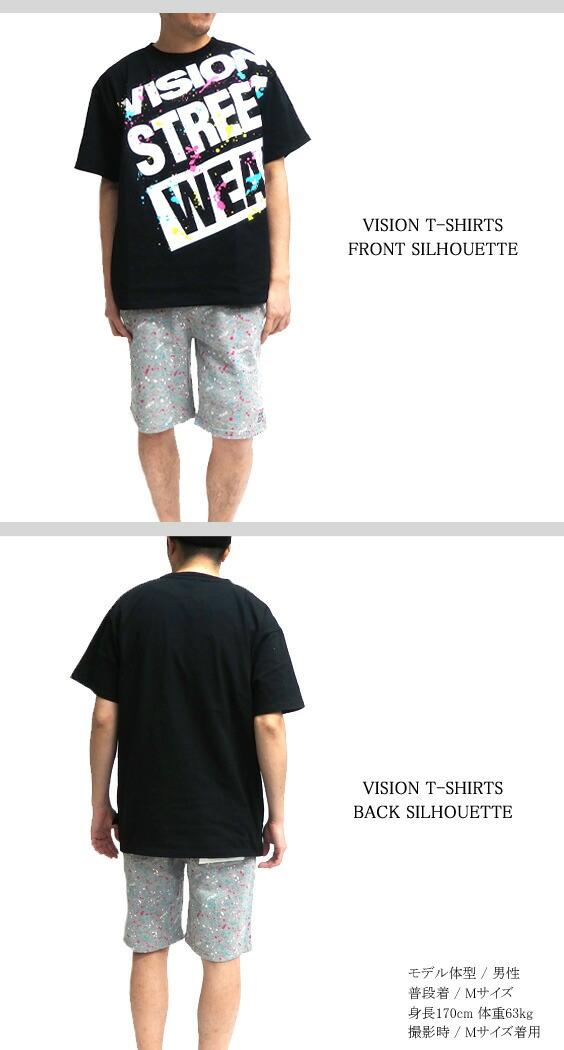 VISION Tシャツ ヴィジョン 半袖Tシャツ シルエット