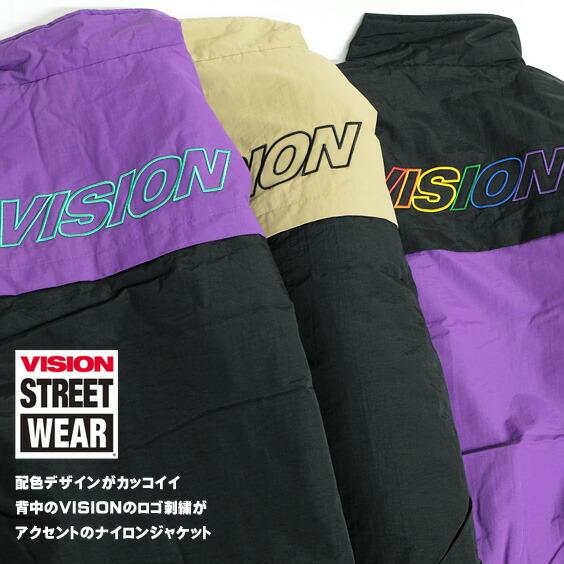 VISION ナイロンジャケット ヴィジョンストリートウェア 中綿ジャケット