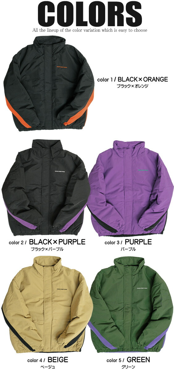 VISION ナイロンジャケット ヴィジョンストリートウェア 中綿ジャケット カラー展開