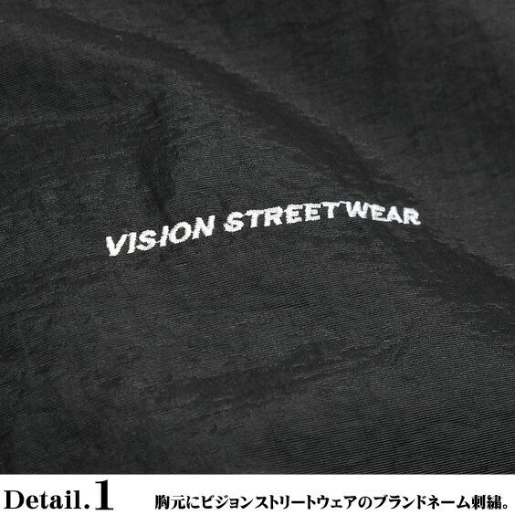VISION ナイロンジャケット ヴィジョンストリートウェア 中綿ジャケット ロゴ刺繍