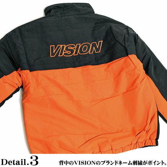 VISION ナイロンジャケット ヴィジョンストリートウェア 中綿ジャケット バックデザイン