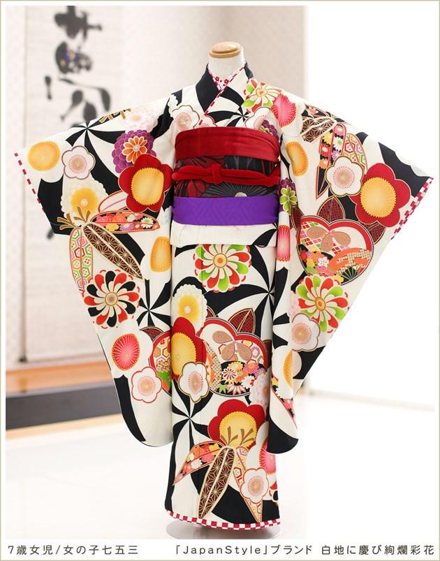 「JapanStyle」ブランド 白地に慶び絢爛彩花