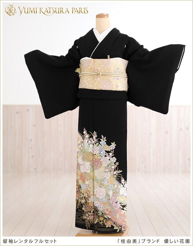 桂由美ブランド留袖レンタル「優しい花園」