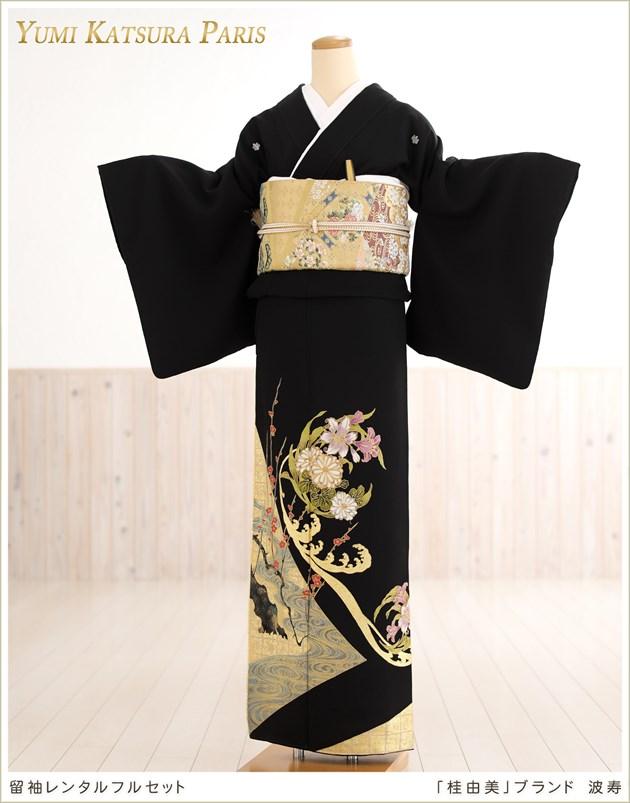 桂由美留袖レンタル「波寿」