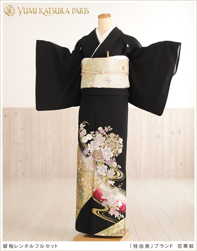 桂由美留袖レンタル「花華紋」