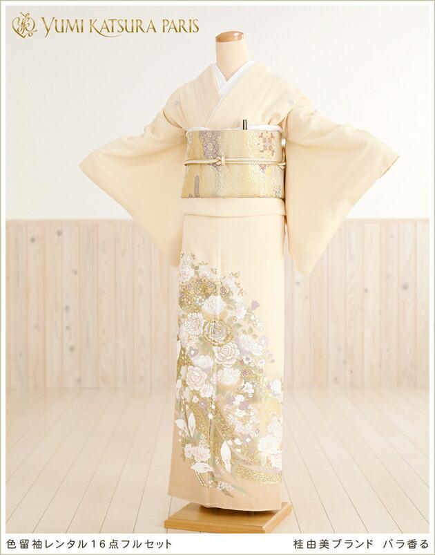 桂由美 色留袖レンタル「バラ香る」