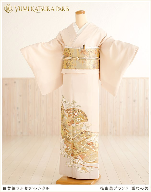 桂由美 色留袖レンタル「重ねの美」
