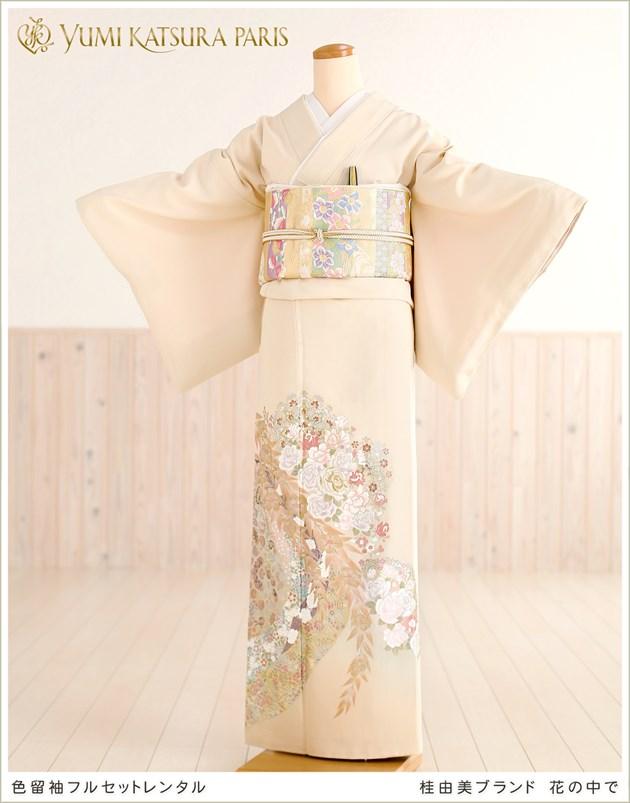 桂由美 色留袖レンタル「花の中で」