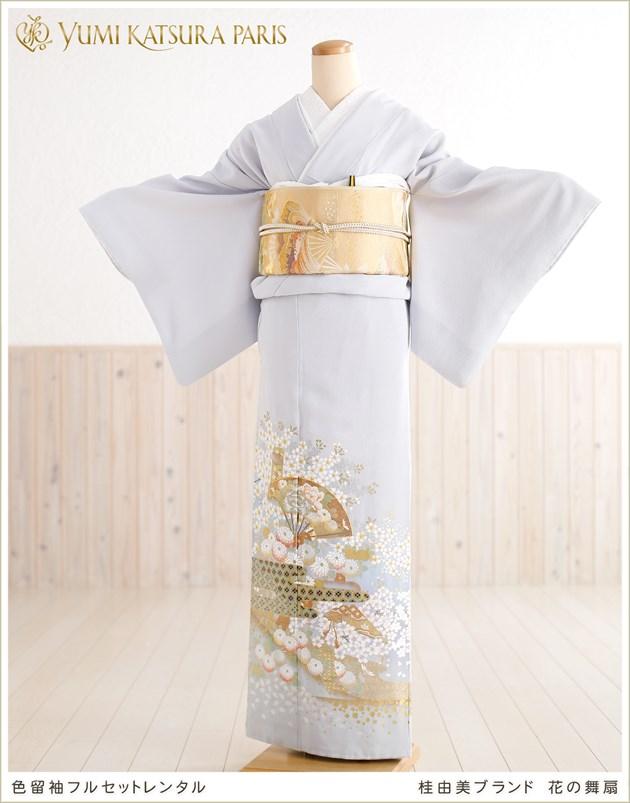 桂由美 色留袖レンタル「花の舞扇」