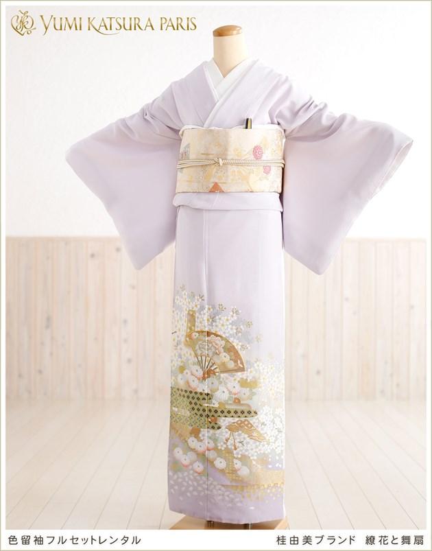桂由美 色留袖レンタル「繚花と舞扇」