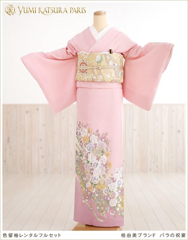桂由美 色留袖レンタル「バラの祝宴」